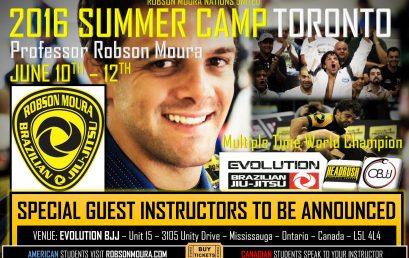 Robson Moura Announces 2016 Canada Camp – Brazilian Jiu Jitsu in Toronto!