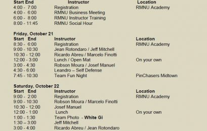 RMNU 5th Annual Brazilian Jiu Jitsu Camp – Almost here!